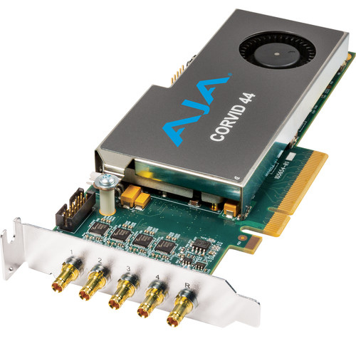 AJA Corvid 44 Low-Profile 8-Lane PCIe Express Gen 2.0 Card (With Cable) Post Production AJA