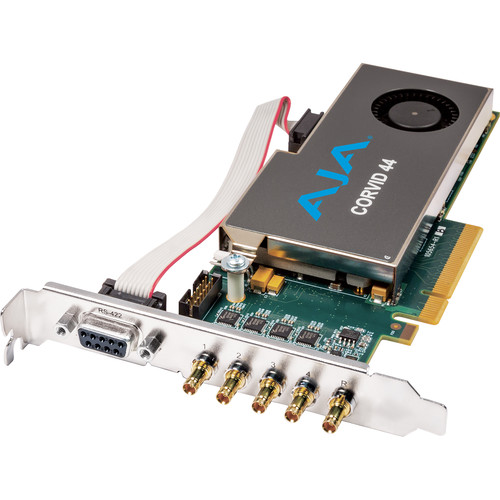 AJA Corvid 44 Standard-Profile 8-Lane PCIe Express Gen 2.0 Card (With Cable)