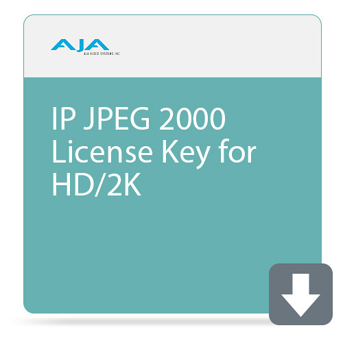 AJA KONA IP JPEG 2000 License Key for HD/2K (DCI) (Download) Pro Video AJA