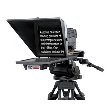 Autocue/QTV Master Series 20″ SDI Prompter Kit with Large Wide-Angle Hood & 12″ Rods Pro Video Autocue