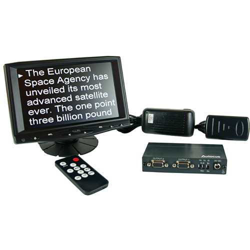 Autocue/QTV 7″ Teleprompter Preview Monitor Kit Pro Video Autocue