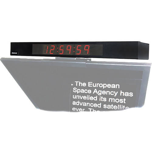 Autocue/QTV Digital Clock Display for Master/Professional Series Teleprompter Pro Video Autocue
