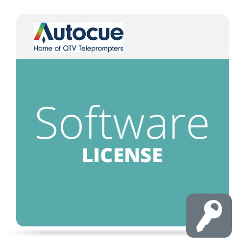 Autocue/QTV Software License Package for QMaster Teleprompter Pro Video Autocue