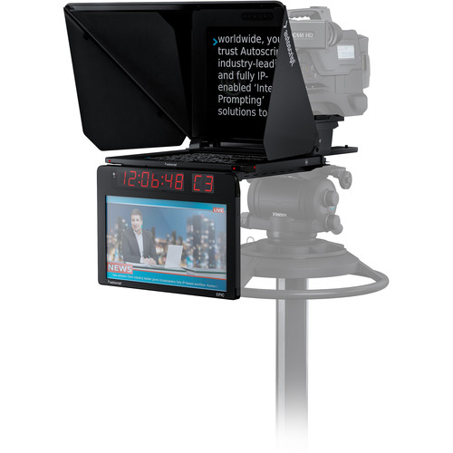 Autoscript Epic-IP On-Camera Package with 17″ Prompt Monitor and Integrated 17″ Talent Monitor Pro Video Autoscript