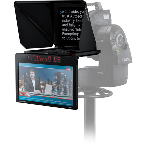 Autoscript Epic-IP On-Camera Package with 19″ Prompt Monitor and Integrated 24″ Talent Monitor Pro Video Autoscript