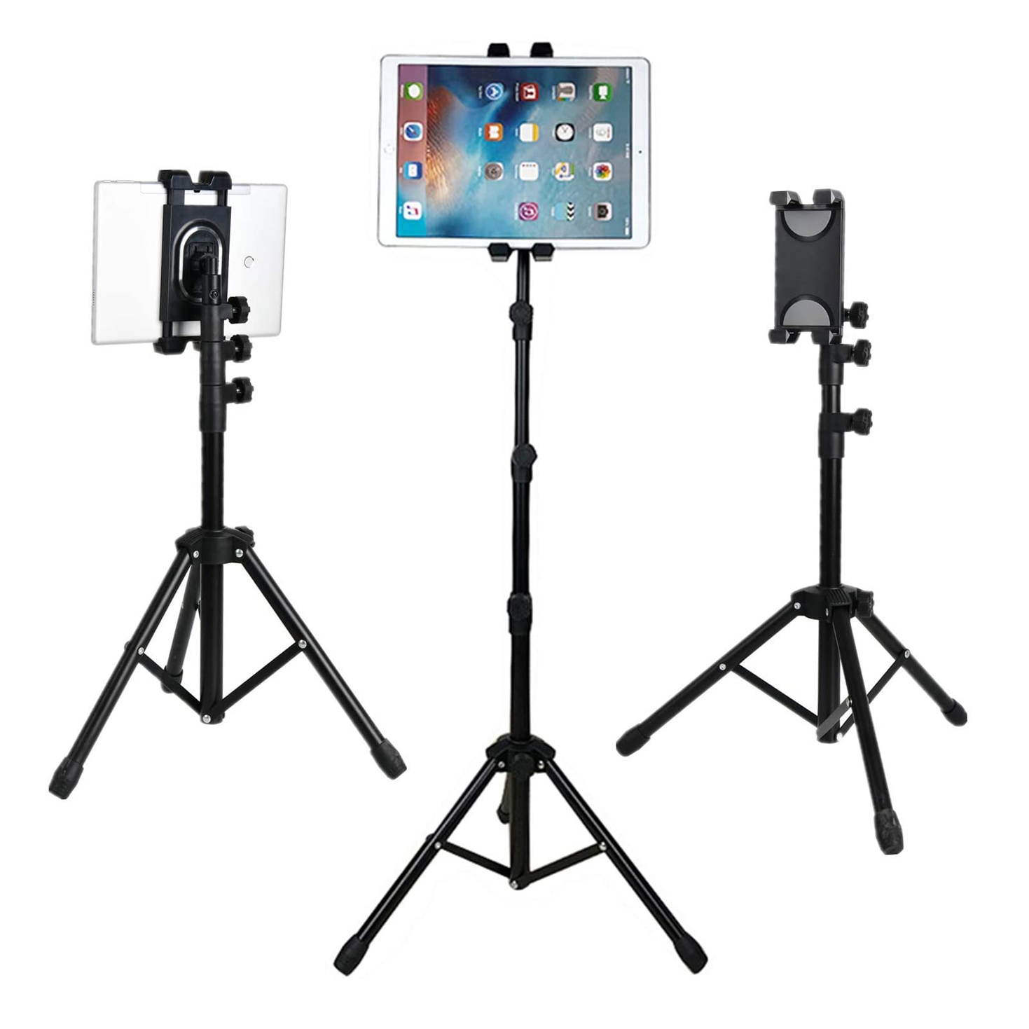 Promage iPad Tripod Mount Tablet Holder Stand, 360 Adjustable Cradle Bracket Tripod Mount for iPad Mobile Photo & Video Accessories Promage