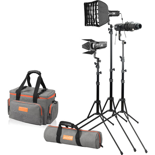 Godox S30-D Focusing LED 3-Light Kit Continuous Lighting GODOX