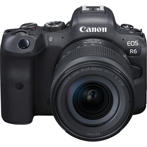 Canon EOS R6 Mirrorless Digital Camera with 24-105mm f/4-7.1 STM Lens Mirrorless Cameras Canon