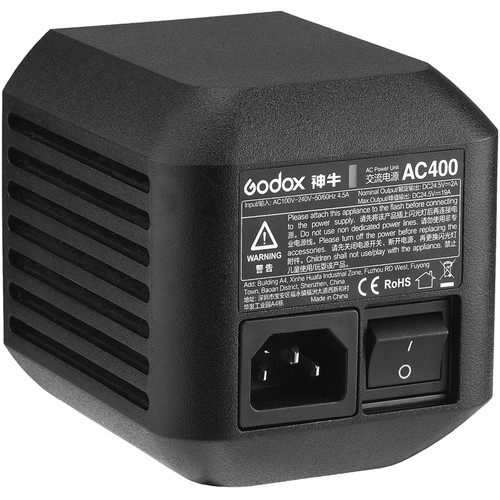 Godox AC Adapter for Witstro AD400Pro Monolight Lighting Power & Cables GODOX