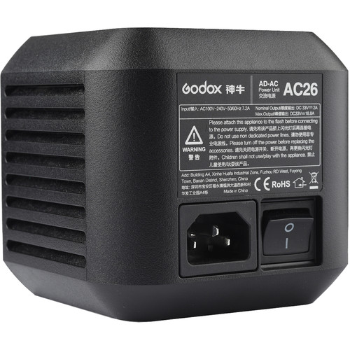 Godox AC Adapter for AD600Pro Witstro Outdoor Flash Lighting Power & Cables GODOX