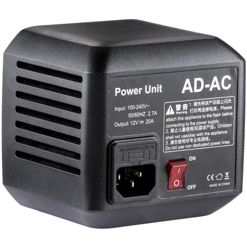 Godox AC Adapter for AD600 Lighting Power & Cables GODOX