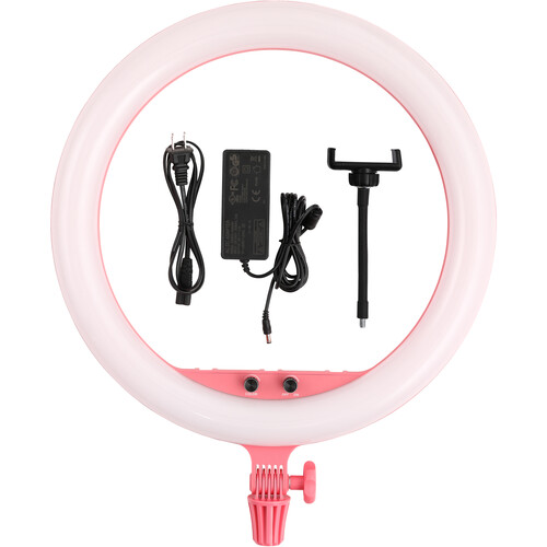 Godox Bi-Color 18″ LED Ring Light (Pink) Continuous Lighting GODOX