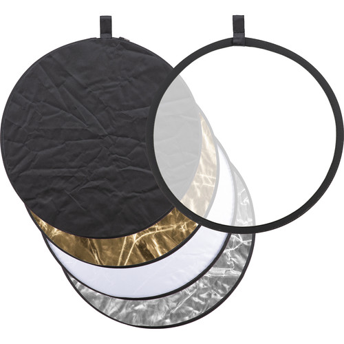 Godox Collapsible 5-In-1 Reflector Disc (24″, Gold/Silver/Black/White/Translucent) Light Modifiers GODOX