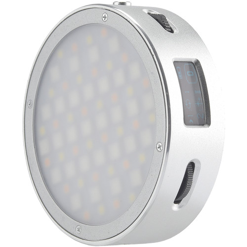 Godox Round Mini RGB LED Magnetic Light (Silver) Mobile Photo & Video Accessories GODOX