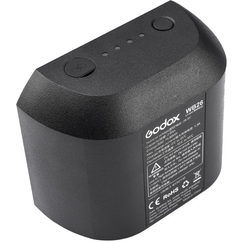 Godox WB26 Rechargeable Lithium-Ion Battery Pack for AD600Pro Flash (28.8V, 2600mAh) Lighting Power & Cables GODOX