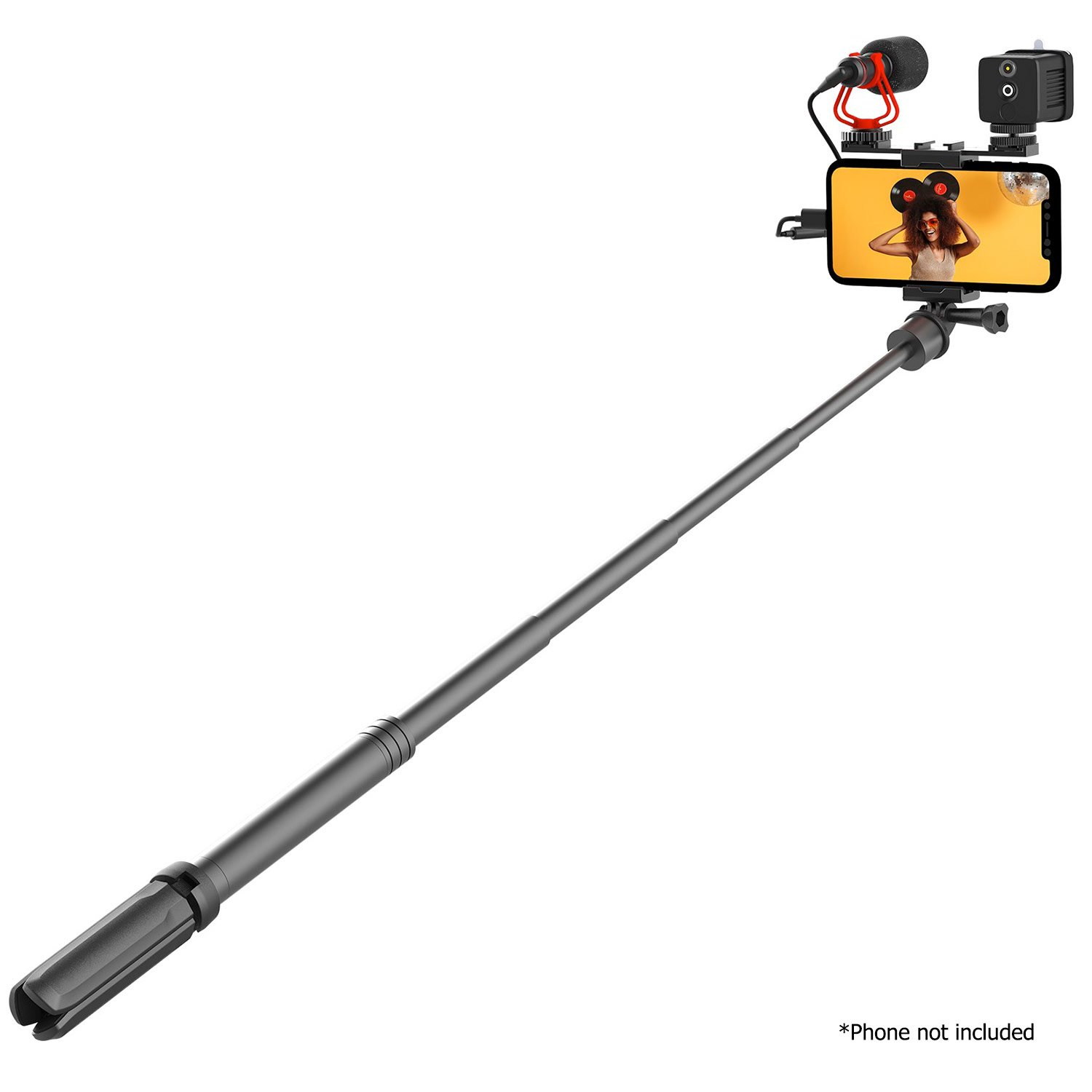 Mirfak Mobile Phone Vlogging Kit, Includes Moin L1 Fill Light, Extension Pole, Microphone, Tripod, Phone Holder Mobile Photo & Video Accessories Moza