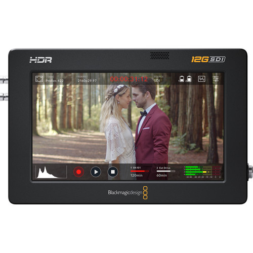 Blackmagic Design Video Assist 5″ 12G-SDI/HDMI HDR Recording Monitor Pro Video Black Magic