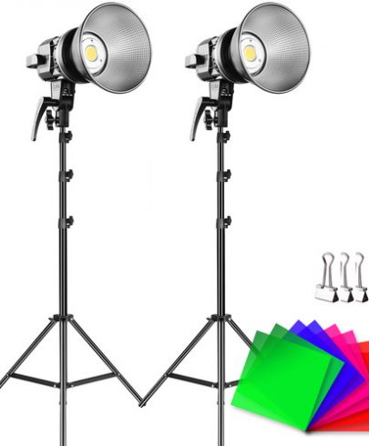 GVM LS-P80S-2D LED 2-Light Kit with Filters Continuous Lighting GVM