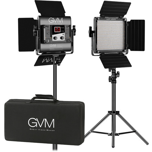 GVM 560AS Bi-Color LED 2-Panel Kit Continuous Lighting GVM