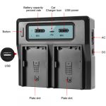 GVM BP-U65 5600mAh Battery with Charger for Sony PMW / PXW Series Cameras Batteries & Power GVM