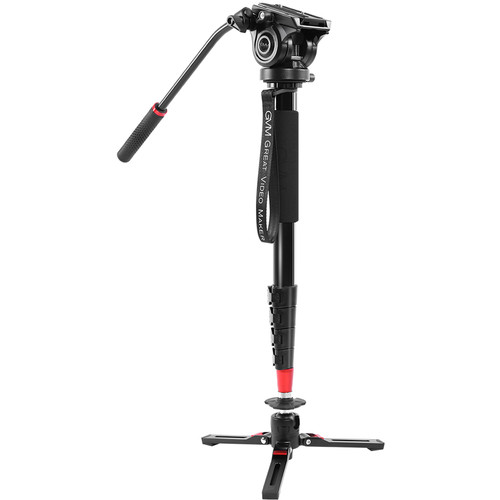 GVM Aluminum 5-Section Monopod with Video Fluid Head Monopods & Accessories GVM