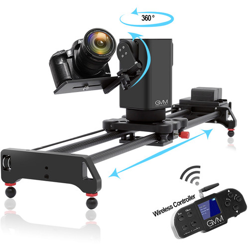GVM 3D-80 3-Axis Wireless Carbon Fiber Motorized Slider with Bluetooth Remote (32″) Pro Video GVM