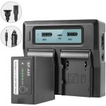 GVM Dual Charger with BP-A60 Battery for Canon C300 Mark II, C200 & C200B (6800mAh) Batteries & Power GVM