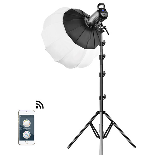 GVM G100W Bi-Color Led Video Light Kit With Lantern Softbox Continuous Lighting GVM