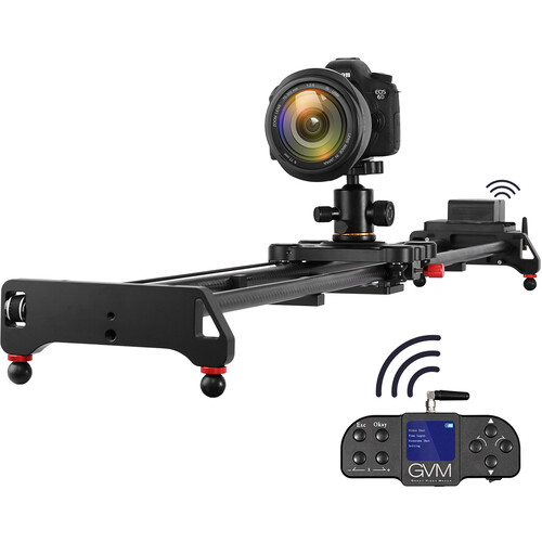 GVM GT-120WD Wireless Carbon Fiber Motorized Camera Slider (47″) with Bluetooth Remote Pro Video GVM