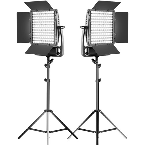GVM LT100S Bi-Color LED 2-Light Panel Continuous Lighting GVM