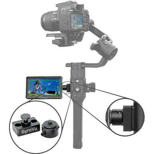 GyroVu Lightweight 5″ On-Camera HDMI Monitor with 360° Swivel Mount for DJI Ronin-S Monitors GVM