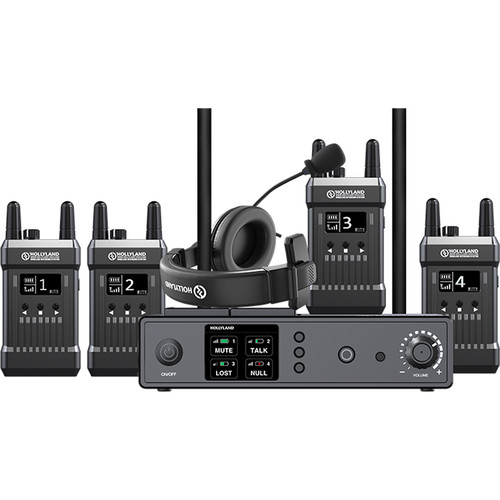 Hollyland Full-Duplex Intercom System with Four Beltpack Transceivers Communications & IFB Hollyland