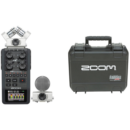 Zoom H6 Handy Recorder with Interchangeable Microphone System and Waterproof Case for H6 Recorder and Mic Modules Kit Portable Audio Digital Recorders Zoom