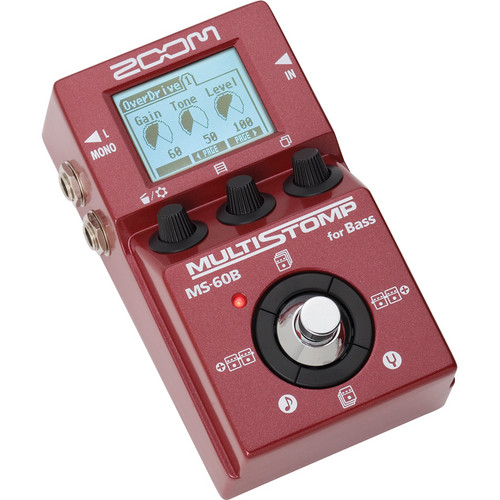 Zoom MS-60B MultiStomp Bass Pedal Field Mixers, Preamps & Accessories Zoom