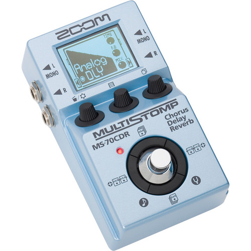 Zoom MS-70CDR MultiStomp Chorus/Delay/Reverb Pedal Field Mixers, Preamps & Accessories Zoom