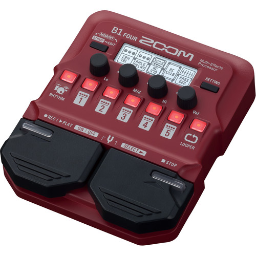 Zoom B1 Four Electric Bass Effects Processor Field Mixers, Preamps & Accessories Zoom