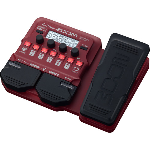 Zoom B1X Four Bass Multi-Effects Pedal with Expression Pedal Field Mixers, Preamps & Accessories Zoom