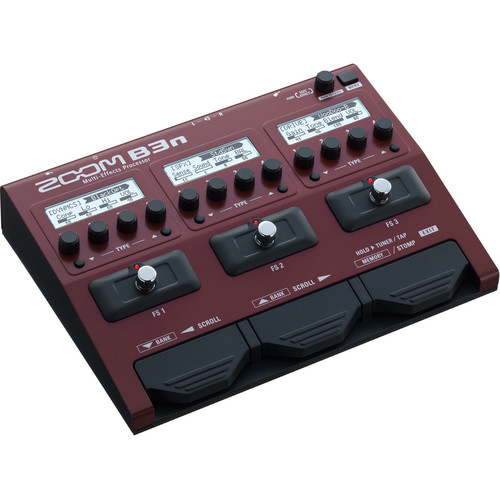 Zoom B3n Multi-Effects Processor for Bassists Field Mixers, Preamps & Accessories Zoom