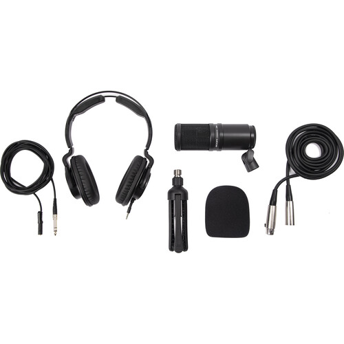 Zoom ZDM-1 Podcast Mic Pack with Headphones, Windscreen, XLR, and Tabletop Stand Pro Audio Zoom