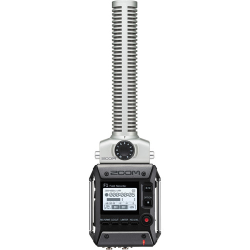 Zoom F1-SP 2-Input / 2-Track Portable Field Recorder with Shotgun Microphone Portable Audio Digital Recorders Zoom