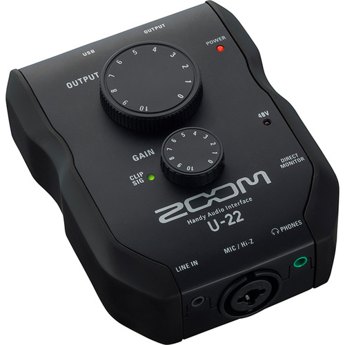 Zoom U-22 – USB Mobile Recording and Performance Interface Computer Audio Zoom