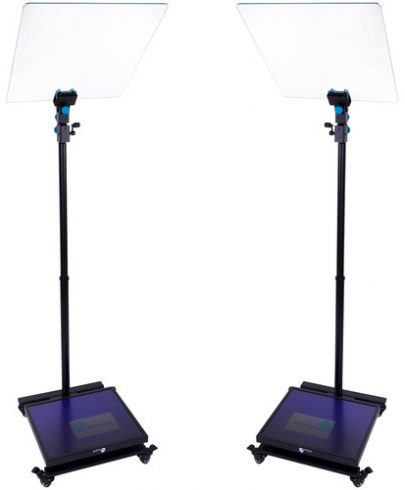 MagiCue Stage Master Presidential Prompter Package with Hard Case (Pair, 19″ LCD) Conference Teleprompters Draco Broadcast