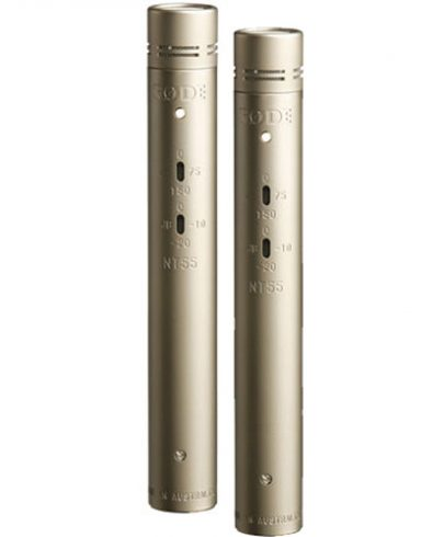 Rode NT55 Compact Condenser Microphone with Interchangeable Capsules (Matched Pair)