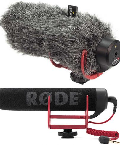 Rode VideoMic GO Camera-Mount Shotgun Microphone Kit with DeadCat GO Windshield Dynamic Recording Microphones Rode
