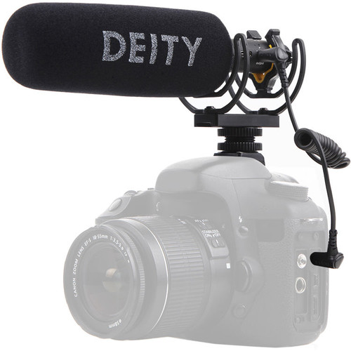 Deity Microphones V-Mic D3 Pro Camera-Mount Shotgun Microphone with Location Recording Bundle Audio Wired Shotgun Mics ENG/EFP Deity