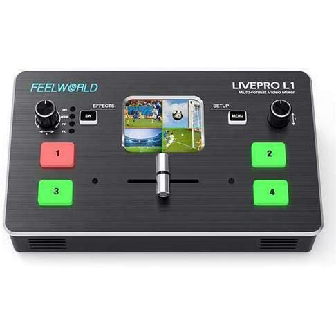 FeelWorld LIVEPRO L1 Multi-Camera Video Switcher with 4 x HDMI Inputs & USB Streaming Pro Video FEELWORLD