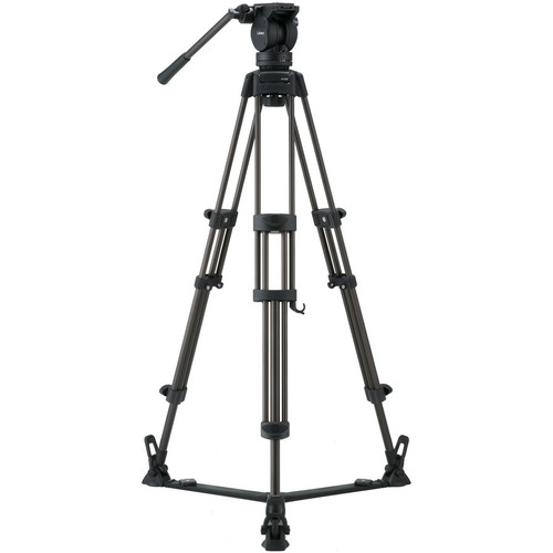 Libec LX7 Tripod With Pan and Tilt Fluid Head and Floor Spreader Pro Video Libec