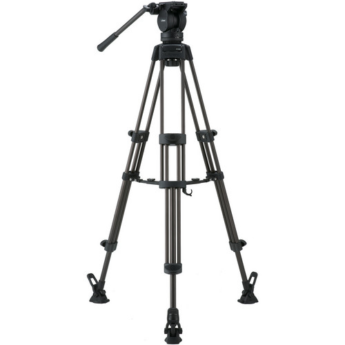 Libec LX7 M Tripod With Pan and Tilt Fluid Head and Mid-Level Spreader Pro Video Libec