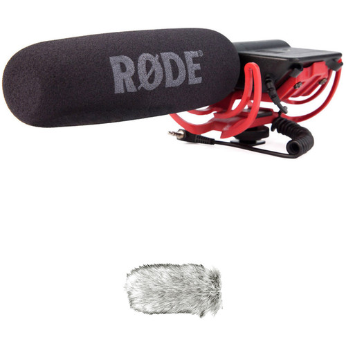 Rode VideoMic Camera-Mount Shotgun Microphone Kit with Dead Cat Windshield Audio Wired Shotgun Mics ENG/EFP Rode