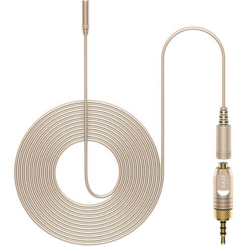 Deity Microphones W.Lav Pro DA35 Bundle Omnidirectional Lavalier Microphone with Microdot to Locking 3.5mm Adapter (Beige)